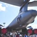 機体よりにある4発エンジン。。B-1Bランサー 20170910