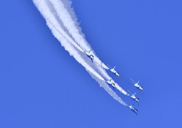 6機そろってデルタループ。。三沢基地航空祭