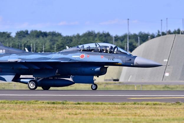 三沢基地航空祭のトリを飾って帰投。。第3飛行隊F-2