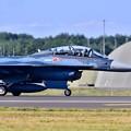 写真: 三沢基地航空祭のトリを飾って帰投。。第3飛行隊F-2