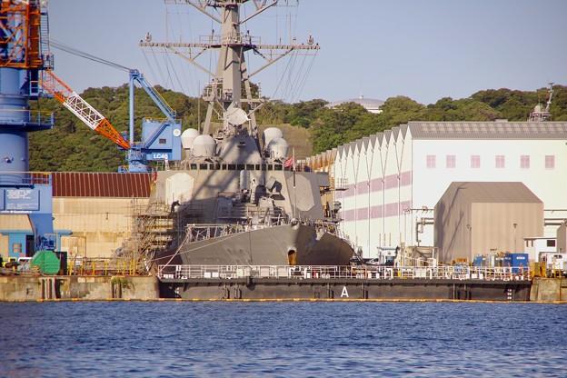 修理本格化に横須賀基地ドライドック フィッツジェラルド 20170918