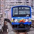 大阪らしい派手なラッピング電車USJ仕様 福島駅にて 20171001