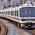 大阪環状線に乗りれる大和路線直通快速221系 福島駅 20171001