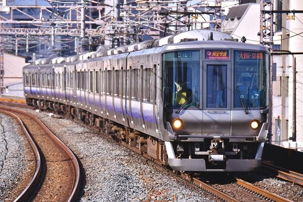 大阪環状線に乗りれる阪和線直通関空快速223系 福島駅 20171001
