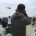 写真: 撮って出し。。築城基地航空祭 アパッチ機動飛行狙う友人 11月25日