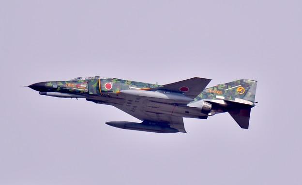 連続機動飛行終えて。。デジタル迷彩スペマ機F-4 ローパス