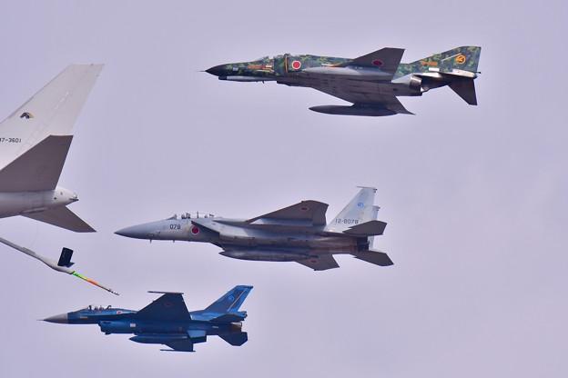 日本の戦闘機3種類揃って。。岐阜基地ならでは(^^)
