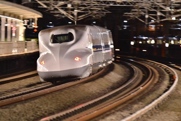 JR東海浜松駅。。通過するのぞみ号 20171119