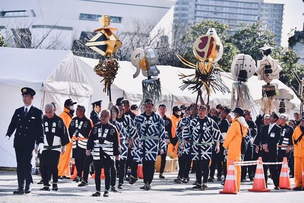 撮って出し。。古い伝統の纏。。横浜消防出初式2018  1月7日