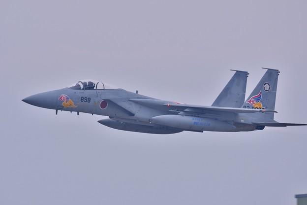 築城基地航空祭。。新田原の梅組スペマ機F-15高速ローパス機動飛行