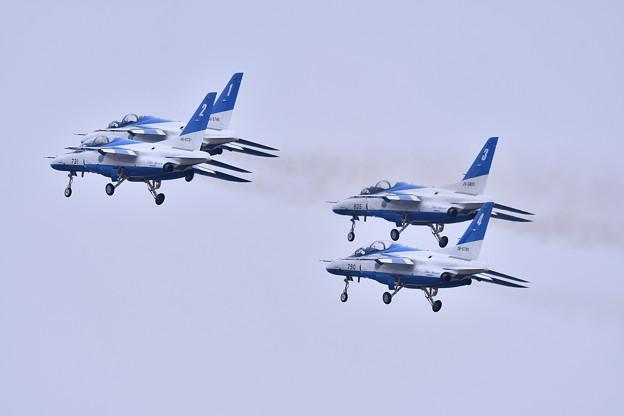 築城基地航空祭。。ブルーインパルスダイヤモンドテイク・オフ