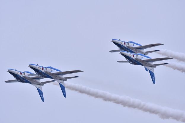 築城基地航空祭。。ブルーインパルスフォーシップインバート