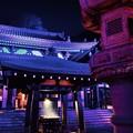 まるで誰もいない夜の鎌倉長谷寺。。ライトアップ20171209