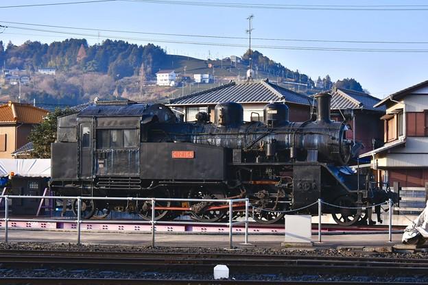 撮って出し。。SL広場から見える転車台のSL 大井川鉄道 1月20日