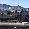 写真: 撮って出し。。SL広場から見える転車台のSL 大井川鉄道 1月20日
