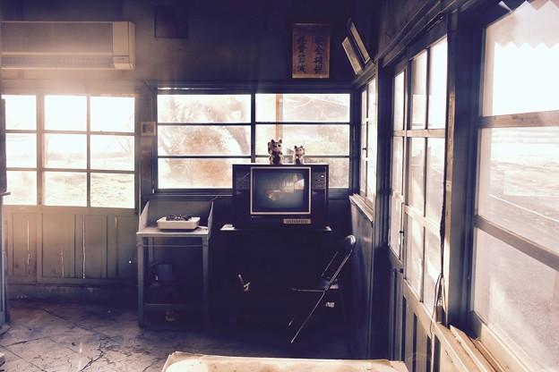 昔の生活感残す駅舎。。小湊鉄道上総鶴舞駅 20171210