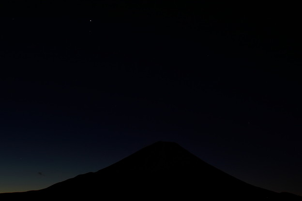 富士山 精進湖 夜明け