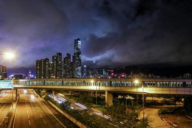 香港 夜影