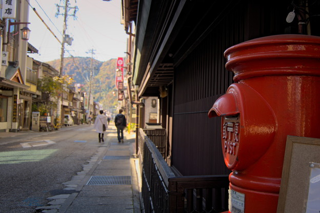 郵便ポストのある風景1