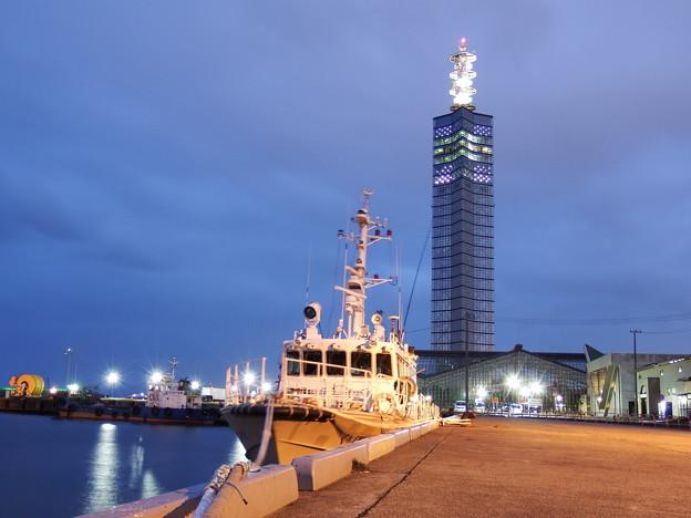漁業取締船くぼた&ポートタワー セリオン