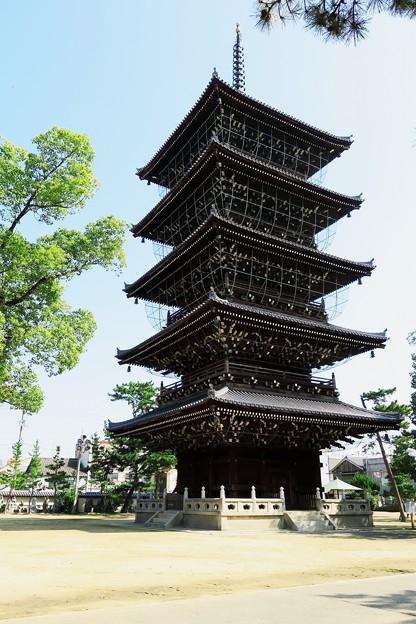 写真: 善通寺五重塔