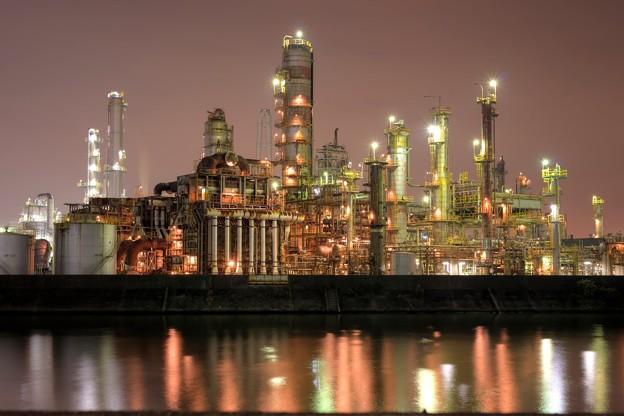 写真: 四日市工場夜景1