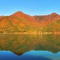 写真: 鏡面の秋景 ~西湖~