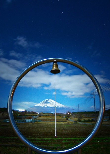 写真: Fit in the Frame ~富士山Night view~