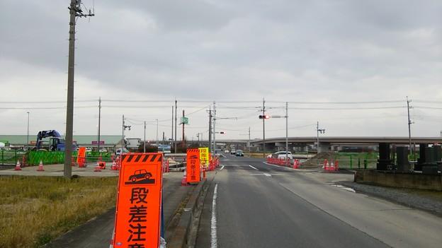 新4号国道、道の駅ごか近くの4車線化進捗状況その3