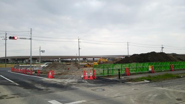 新4号国道、道の駅ごか近くの4車線化進捗状況その5