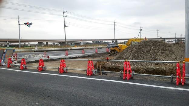 新4号国道、道の駅ごか近くの4車線化進捗状況その8