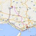 Photos: 笠形山氷瀑ツーリングの地図