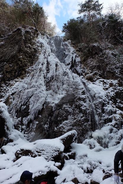 扁妙の氷の滝