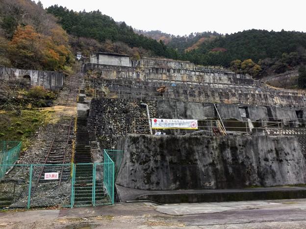 神子畑選鉱場とインクライン(ケーブルカー)