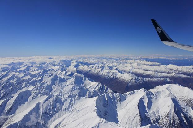 ニュージーランド*国内線からの雄大な眺め