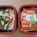 写真: テカポ湖名物・サーモン丼3