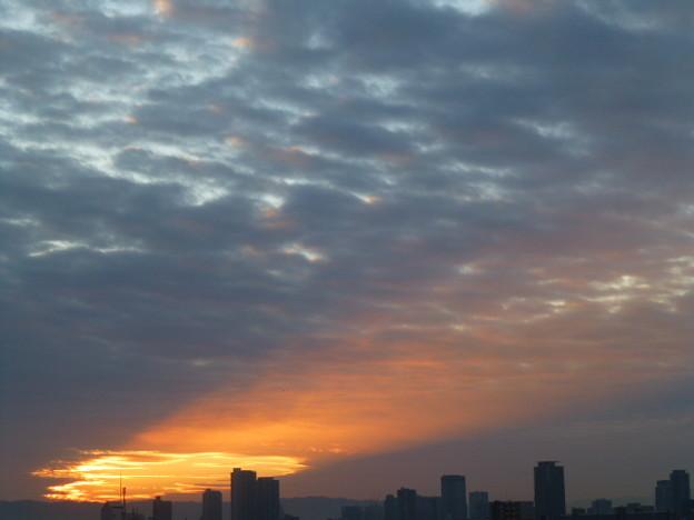 神々しい天使の梯子@大阪