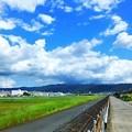 八尾空港と生駒山