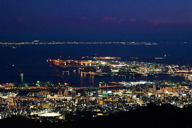 神戸方面の夜景@掬星台