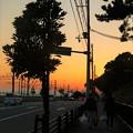 写真: 須磨浦の夕焼け