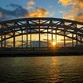 淀川の夕景