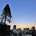 写真: 神戸メリケンパークの夕景