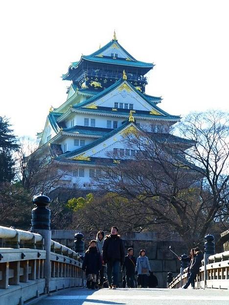 写真: 極楽橋と大阪城