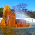 写真: 大阪城公園の噴水広場
