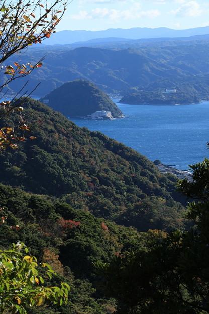 淡島を望む
