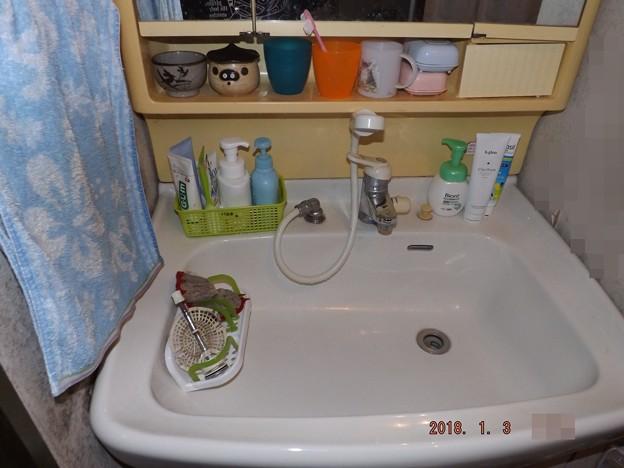 2018/01/03(水)・洗面台掃除