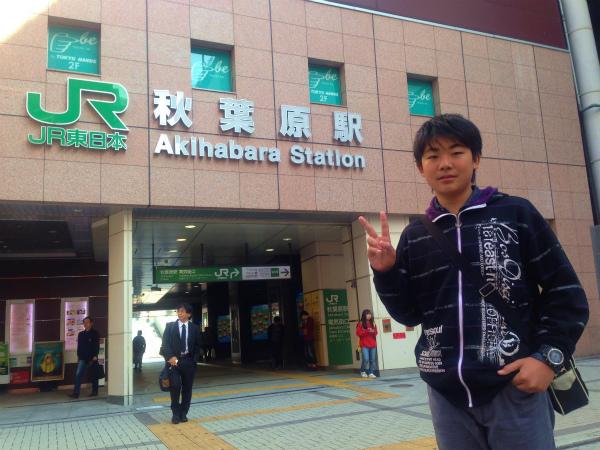 秋葉原駅へ到着