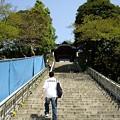 写真: 階段はつらい><
