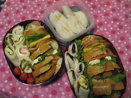 運動会のサンドイッチ弁当