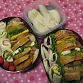 写真: 運動会のサンドイッチ弁当